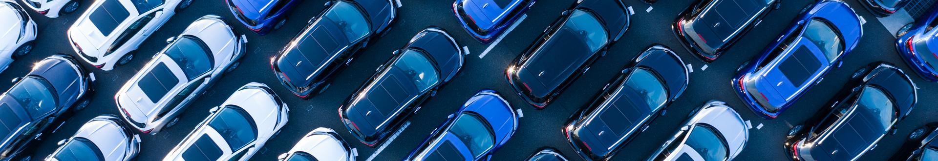 Parking samochodowy z góry